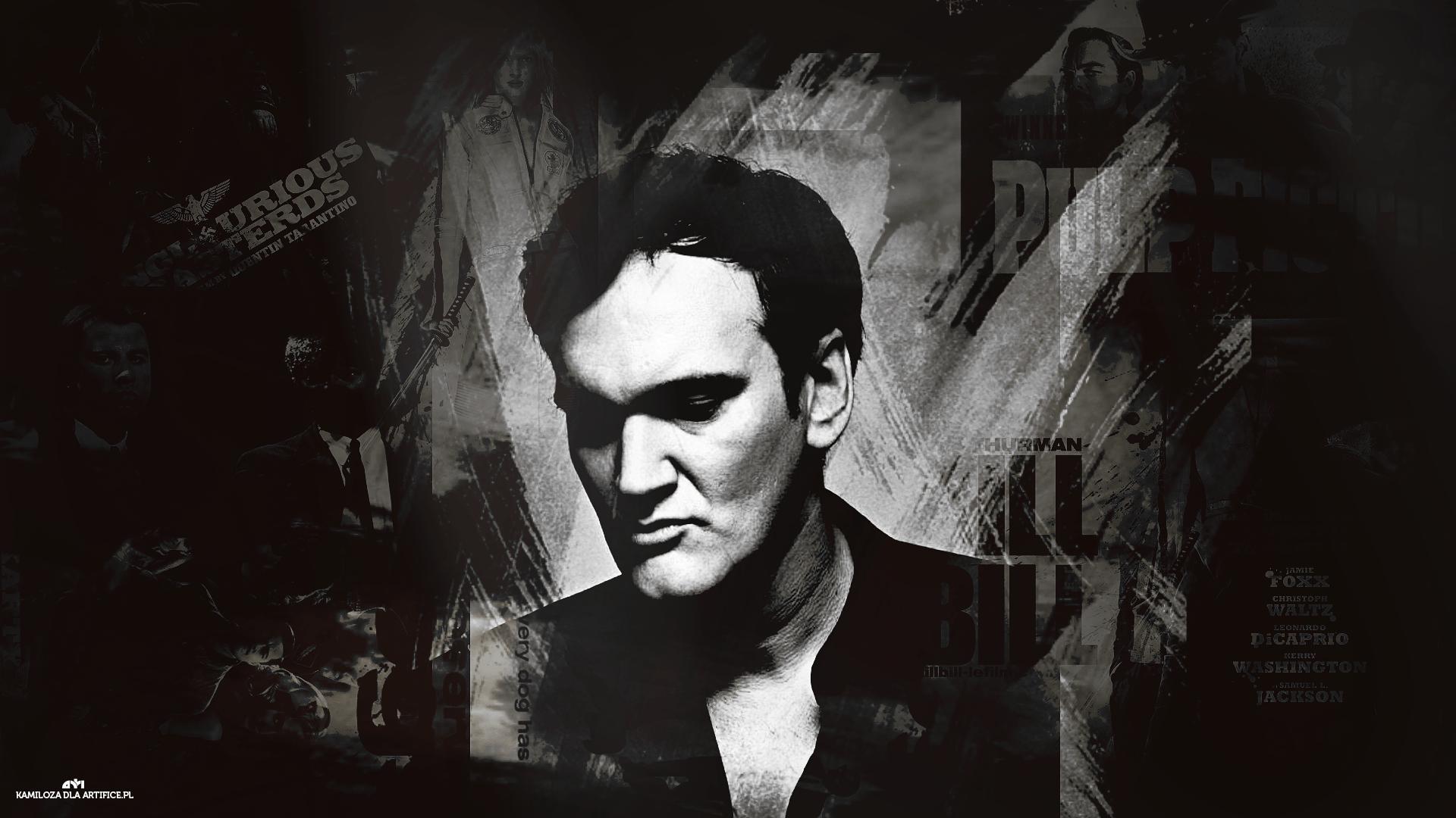 Quentin Tarantino con el ojo al lente
