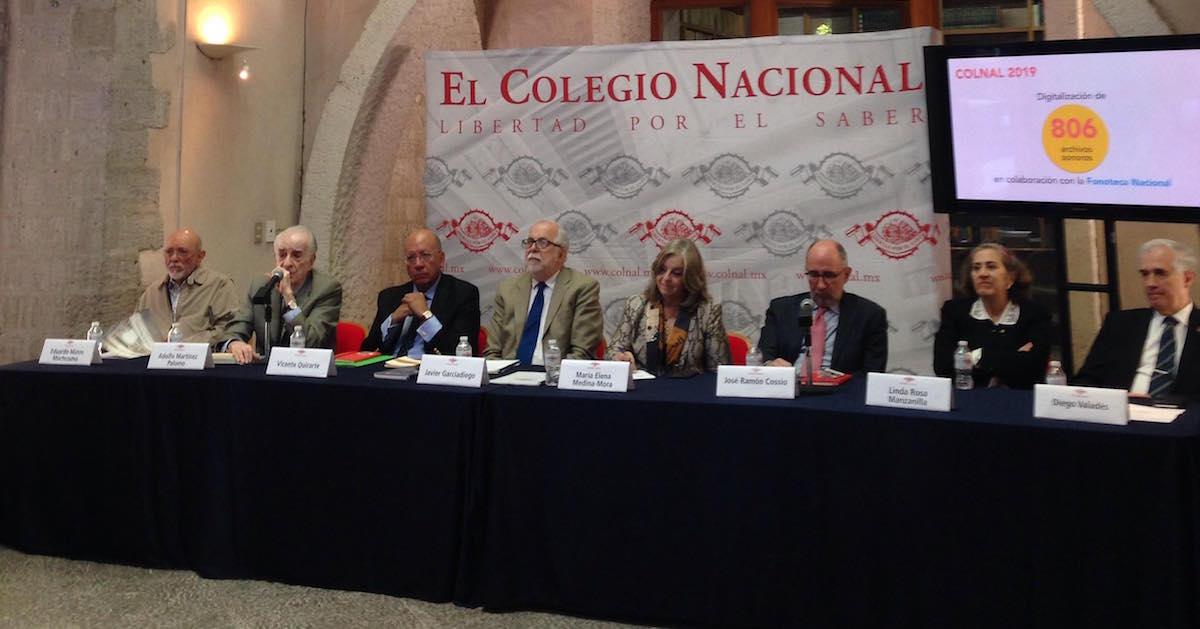El Colegio Nacional da a conocer su programa de actividades para 2019