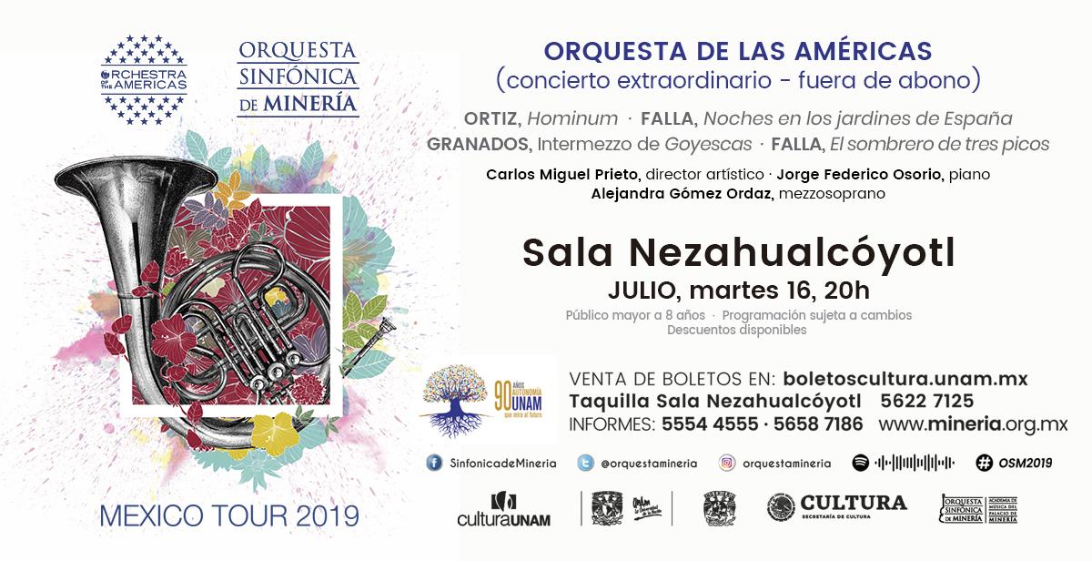 Forma parte del concierto extraordinario de la Orquesta de las Américas