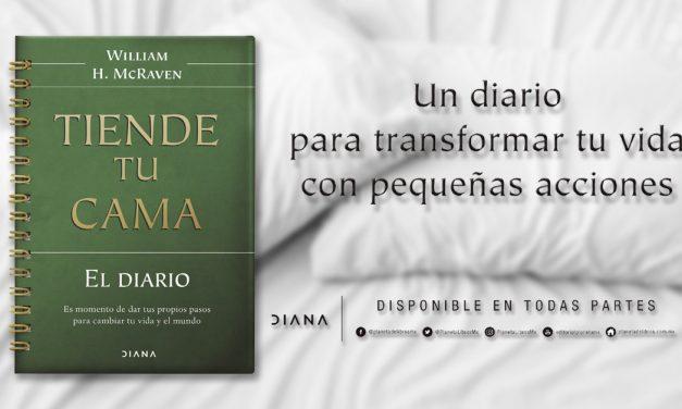 """""""Diario. Tiende tu cama"""", una guía para cambiar tu vida"""