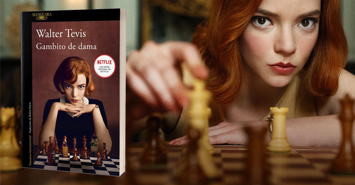 Gambito de dama: el libro de Walter Tevis y la serie de Netflix