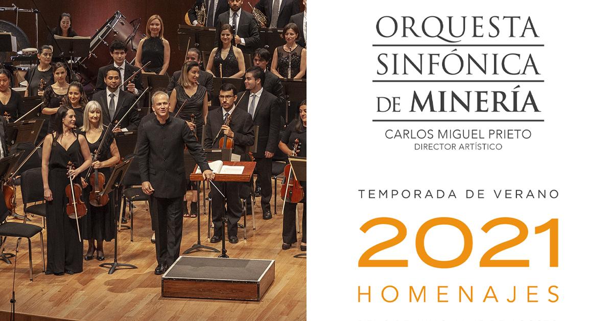 Cortesías para el Tercer Programa de la Temporada de Verano 2021 de la Orquesta Sinfónica de Minería