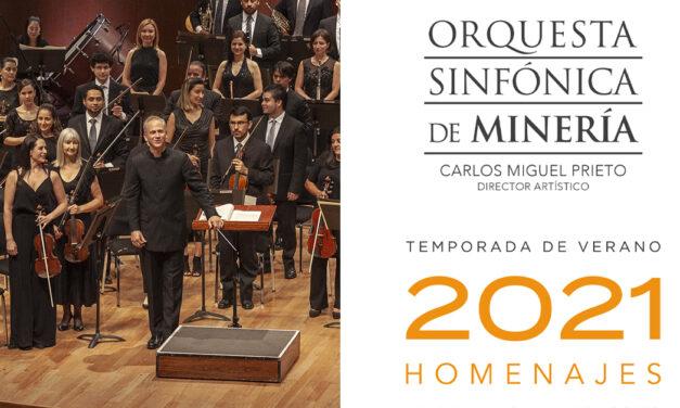 Cortesías para el Sexto Programa de la Temporada de Verano 2021 de la Orquesta Sinfónica de Minería
